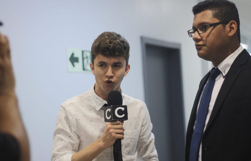 Josué Cover - Reportero de Campus Televisión en 2016